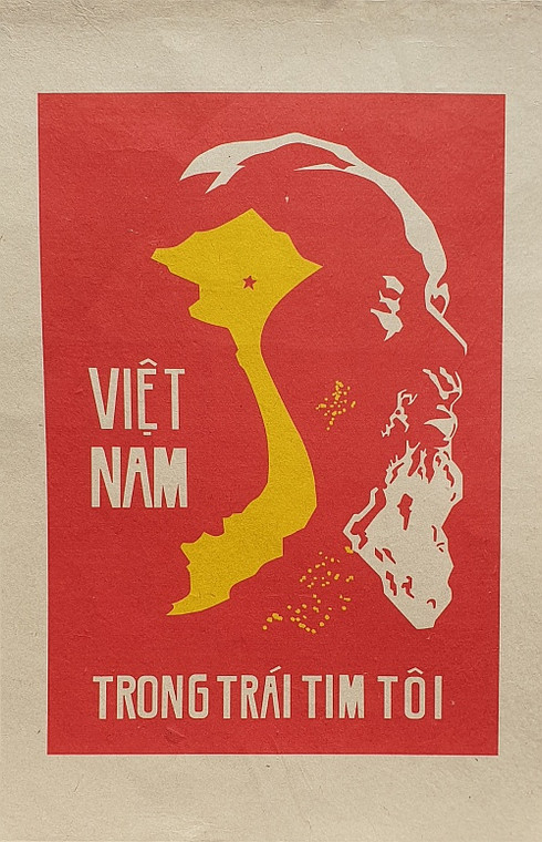 VIETNAMESE PROPAGANDA PRINT VIETNAM IN MY HEART