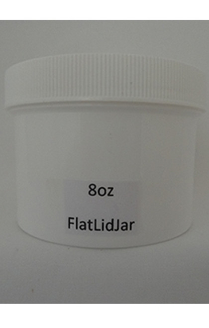 JAR WHITE W/FLAT LID 8 OZ - 1/2 DZ