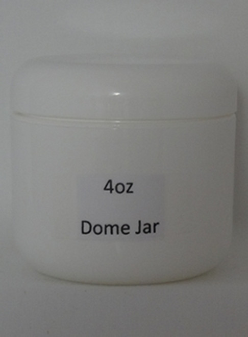 JAR WHITE 4 OZ DOME LID - DZ