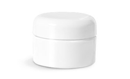 JAR WHITE 1 OZ DOME LID - DZ
