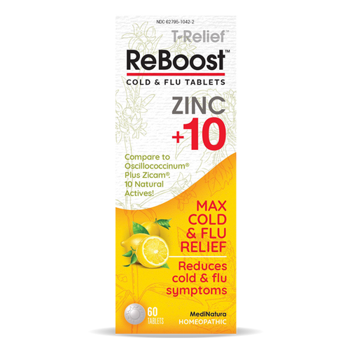 New- Reboost Cold and Flu with Zinc