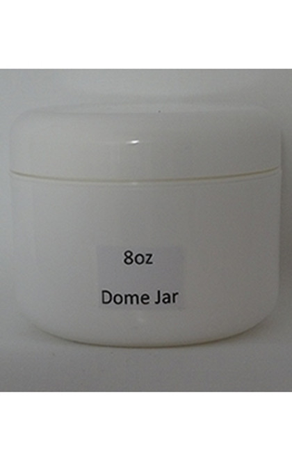 JAR WHITE 8 OZ DOME LID - 6/BG