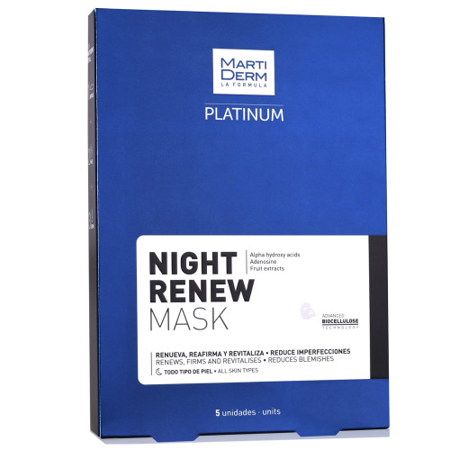 Martiderm Platinum Night Renew Mask 5 units
