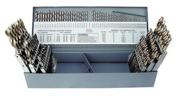 DRILL SET MASTER 1/16-1/2 X 64ths, A-Z, #1-#60 115PC, JBR LGTH 135PT, COB, HD, 120426