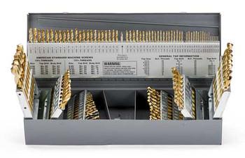 DRILL SET MASTER 1/16-1/2 X 64ths, A-Z, #1-#60 115PC, STUB LGTH 135PT, COB, 259472