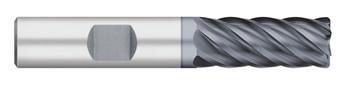 END MILL 5/8 6FL SE VI CR-.030 W/FL, CARB, ALCRO-MAX, 252476