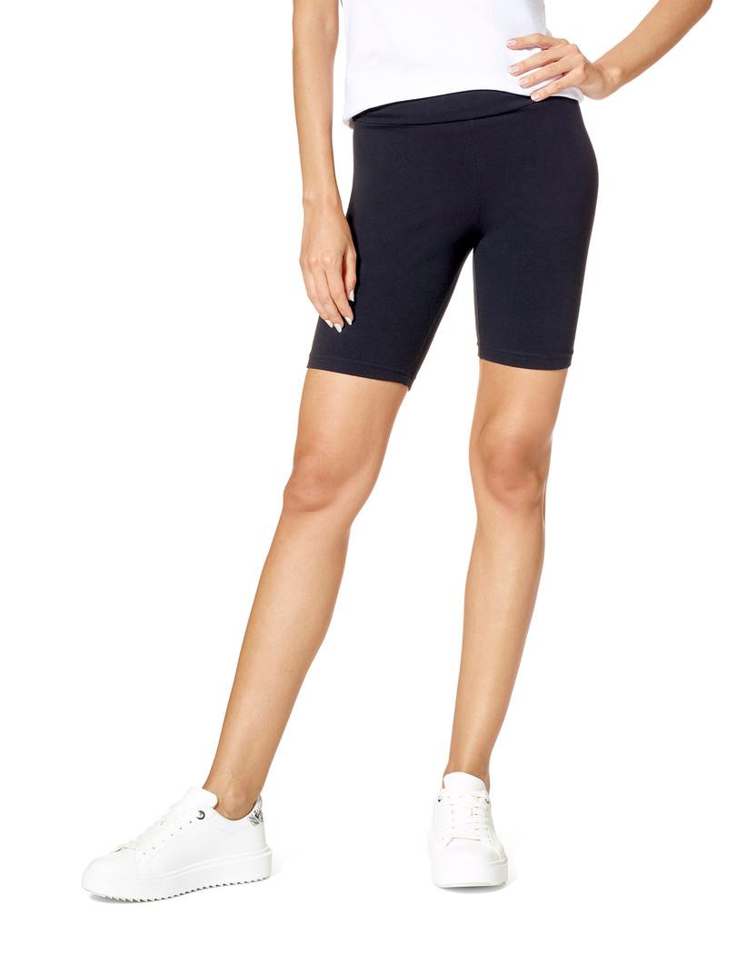Hi Waist Blackout Cotton Bike Shorts Black