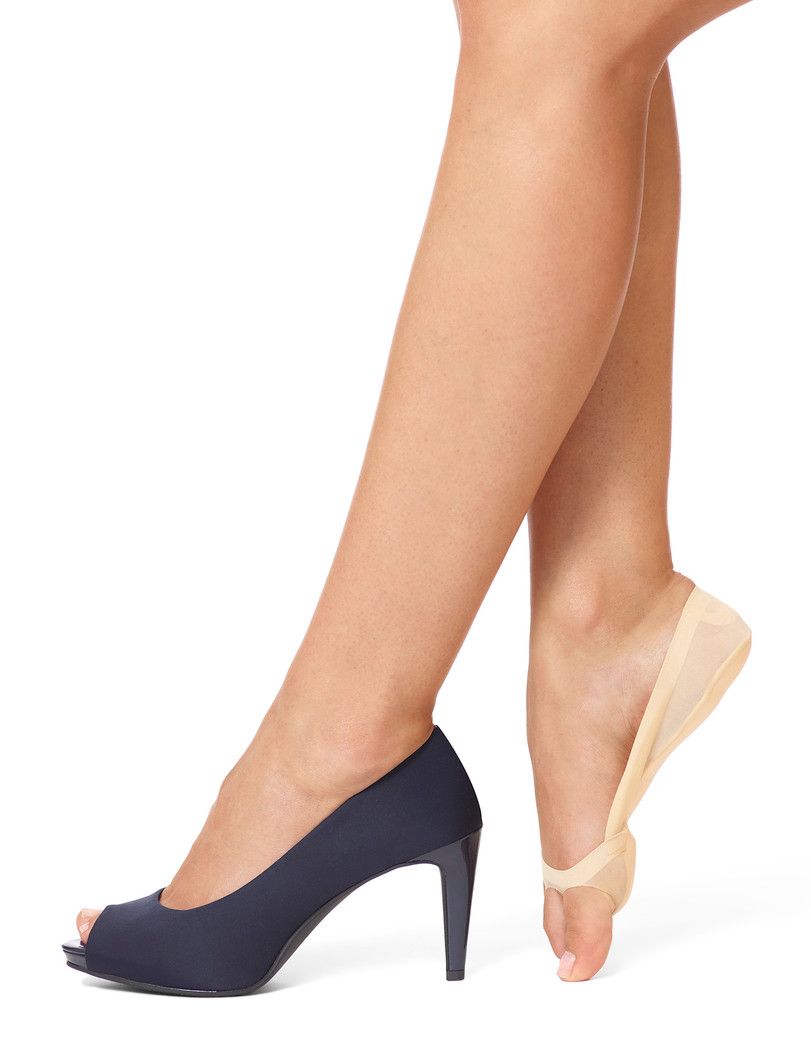 Classic Open Toe Liner with Cushioned Sole Black
