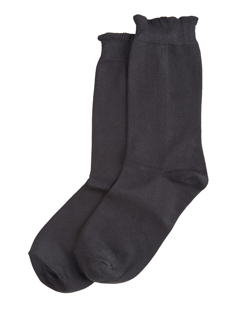 Solid Femme Top Sock Black
