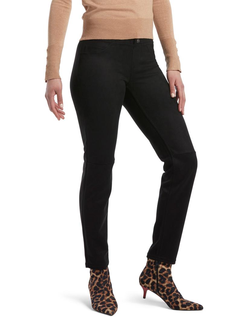 Microsueded Straight Leg Leggings Black
