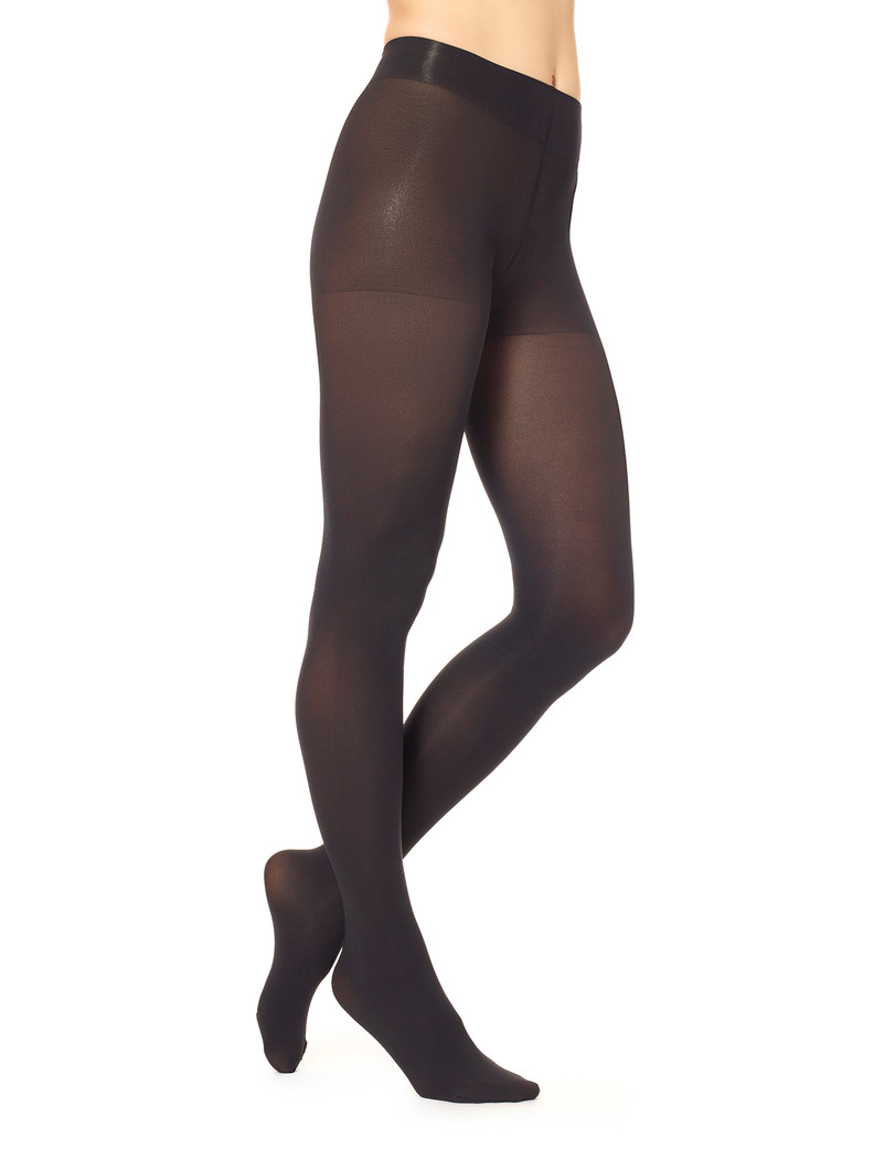 Super Opaque Tights with Control Top Black