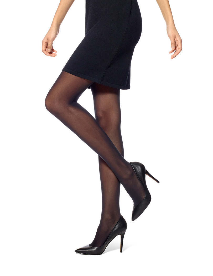 Flat-tering Fit Opaque Tights Black
