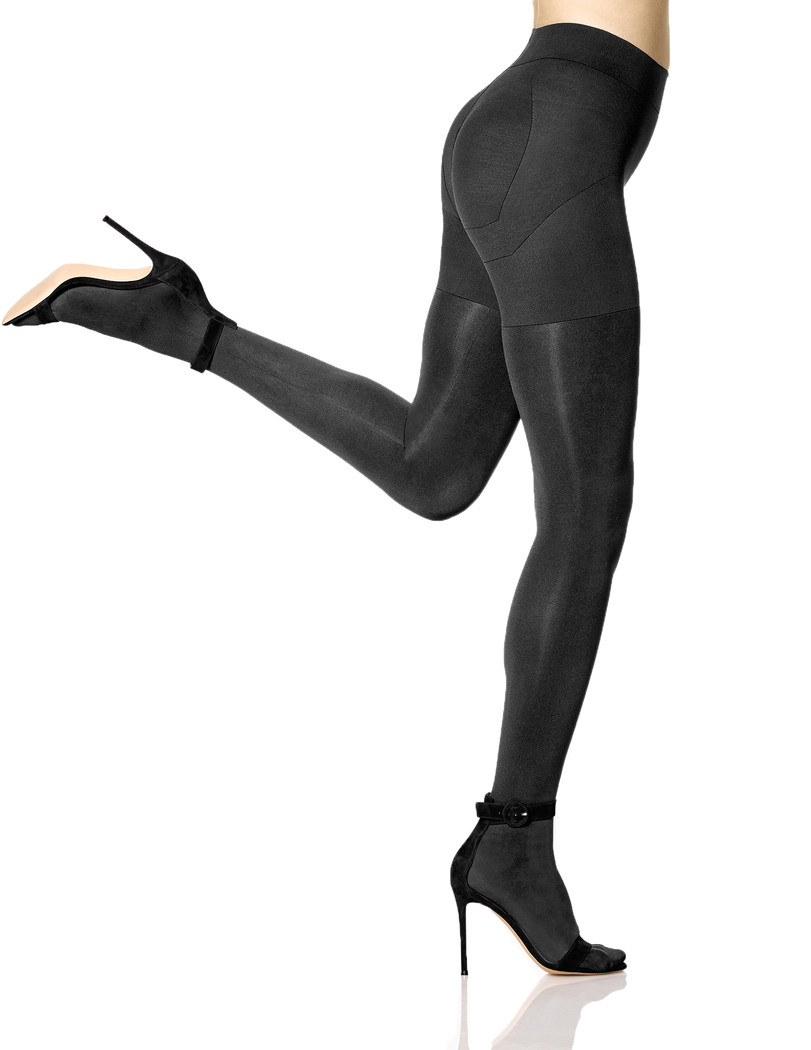 Matte Opaque Shaping Tights Black