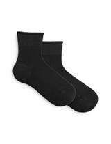 Sporty Shortie Sneaker Sock Black, Shoe Sizes 4-10