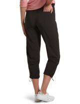 Travel Adjustable Hem Cropped Trouser Black