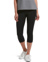 Reversible French Terry Ultra High Waist Capri Charcoal Heather