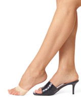 Open Toe Mule Liner Cream, Shoe Sizes 4-10