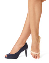 Classic Open Toe Liner with Cushioned Sole Cream Small/Medium