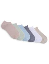 Cotton Liner 6 Pair Pack Black, Shoe Sizes 4-10