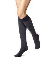Soft Opaque Knee Hi Grey Heather 1