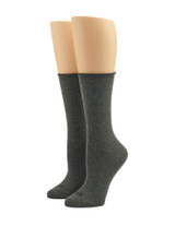 Jeans Socks Grey Heather, Shoe Sizes 4-10