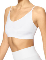 Seamless Shaping Bralette White Small