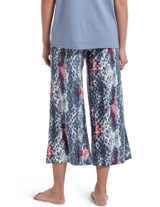 Printed Knit Coulotte Pajama Sleep Pant Off White