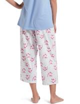 Flamingals Capri Pajama Pant White Extra Large