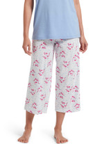 Flamingals Capri Pajama Pant White Small