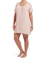 Sleepwell Join The Dots Short Sleeve PJ Gown Calming Rose 1X