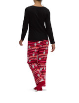 Not Just Yeti Knit PJ Set Black