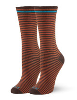 Cushioned Crew Sock Espresso, Shoe Sizes 4-10