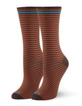 Cushioned Crew Sock Espresso, Shoe Sizes 4-10