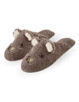 Animal Plush Slide Slippers Coin Small