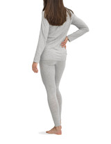 Solid Light Grey Heather PJ Legging Set with CBD Lt Grey Hea