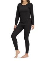Solid Black PJ Legging Set with CBD Black