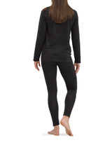 Solid Black PJ Legging Set with CBD Black