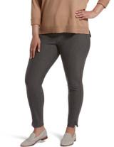 Pintucked Tweed 7/8 Leggings Mulch 1X