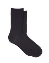 Superlite Cotton Sock Black, Shoe Sizes 4-10