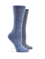 Super Soft Roll Top Boot Sock 2 Pk Dusty Iris, Shoe Sizes 4-10
