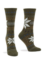 Fairisle Snowflake Boot Sock 2 Pk Sandbar, Shoe Sizes 4-10