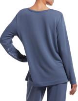 Solid Long Sleeve T-Shirt Vintage Indigo