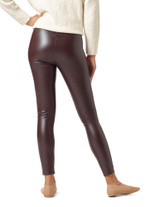 Croco Leatherette High Rise Leggings Black Small