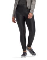 Croco Leatherette High Rise Leggings Black Small