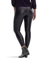 Leatherette High Rise Leggings Black Large