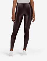 Leatherette High Rise Leggings Black 1X