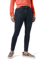Curvy High Waist Ultra Soft Denim Legging Stormy Blue Wash Small