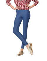 Essential Denim Leggings Stone Acid Wash Extra Small
