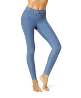 Essential Denim Leggings Stone Acid Wash Small