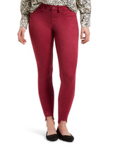 Hi-Low Suede Leggings, Beet Red, Small